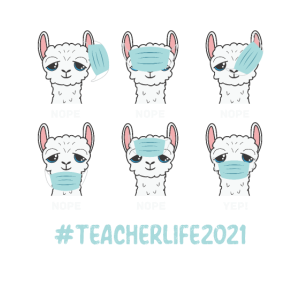 Lehrerleben 2021 Lama tragen Maske falsch lustig