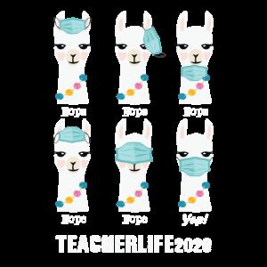 Lehrer Leben 2020 Lama tragen Maske falsch lustig