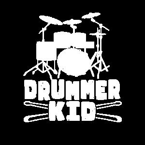 Kids Drummer Kid Funny Drum Set... Drummer
