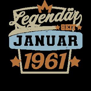 legendär seit Januar 1961 Geburtstag