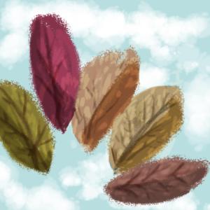 Illustration einiger Frühlingsblätter