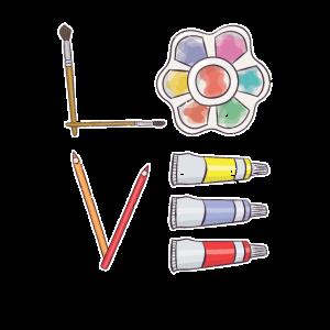 Künstler Farbpalette Kunstgalerie