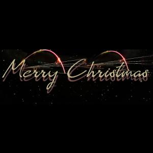 merry christmas, schrift, gold, funken, feuer,