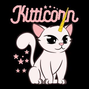 Cute Cat + Unicorn = KittiCorn Animal Lover