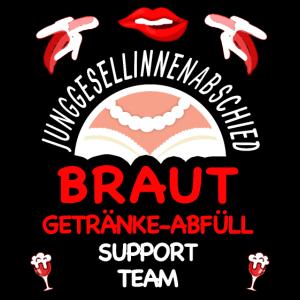Team Braut Shirt Schwarz