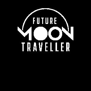 Zukünftiger Mond Reisender Mondreise Mondlandung