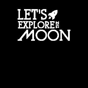 Lasst uns den mond erforschen Mondreise Reisender