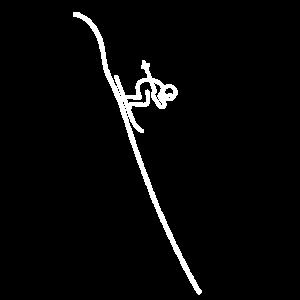 Skifahrer Ski Abfahrt Wintersport Skiläufer Design