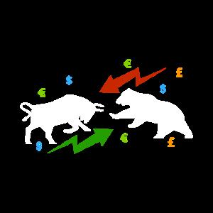 Bulle vs. Bären Markt, aktien, Börse, Bitcoin