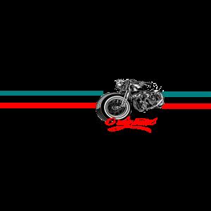 Motorrad Chopper Bike Retro Design