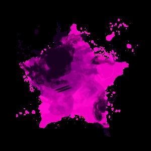 Stern mit Farbe