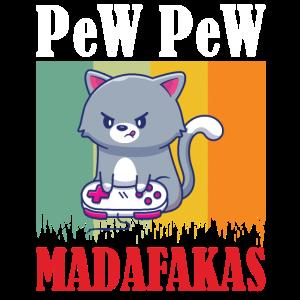 Gaming Cat Pew Pew