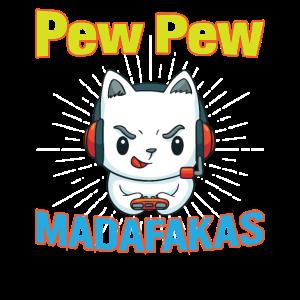 Pew Pew Funny Cat