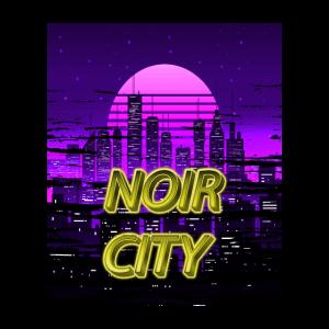Noir City Vaporwave Outrun Synthwave Ästhetik