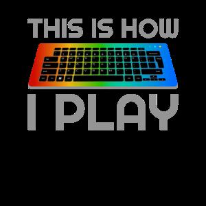 RGB Tastatur Gaming LED Zocker Geschenk PC