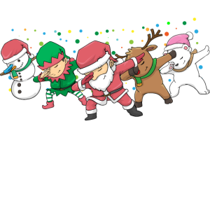 Dabbing Santa Elf Christmas Xmas Weinachten
