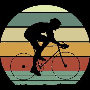Retro Rennradfahrer