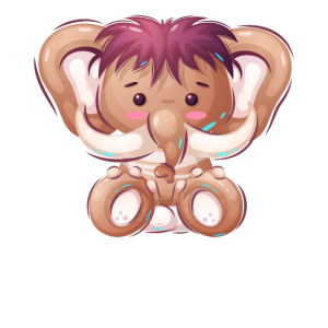 Süßes Kinder Mammut Mädchen Motiv