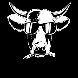 Coole Winter Kuh Milchkuh Landwirt Bauernhof
