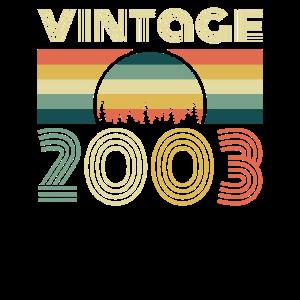 Vintage 2003 Geburtstag Retro Jahrgang Geschenk