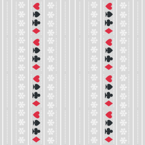 Poker and Snowflakes christmas