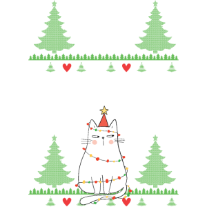 Katzen Ugly Christmas Sweater