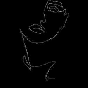One line Drawing Frauen Gesicht