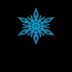 Schnee Flocke Eis blau Stern