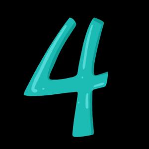 Ziffer 4 Zahl Vier Nummer