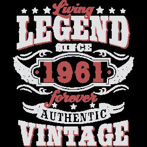 Lebende Legende seit 1961 Vintage Geburtstag