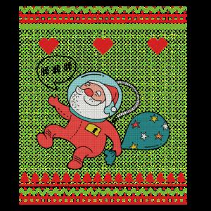 Astronaut Xmas Space Santa Unschn Weihnachtsfeier