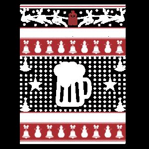 Beer Ugly Christmas Sweater Xmas TShirts Beer
