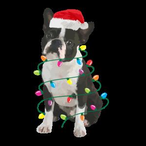 Boston Terrier Christmas Xmas Funny 2020 Mnner Fra