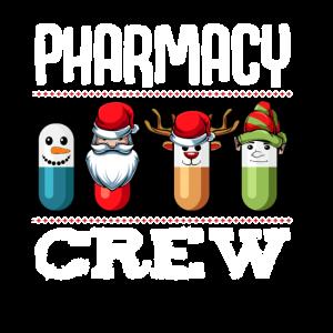 Pharmacy Crew Apotheke Pillen Weihnachten Pharmazi