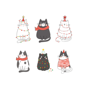 Se Katzen Xmas Ktzchen Weihnachtsoutfit Damen Weih