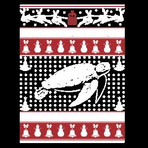 Turtle Ugly Christmas Sweater Xmas TShirt Turtle.