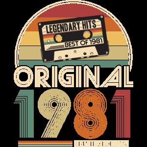 1981 Vintage Jahrgang Geburtstag Retro Geschenk