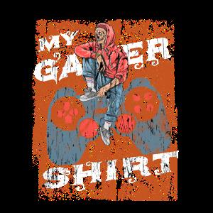 Controller mit Skull My Gamer Shirt