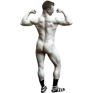 Nackter Mann mit Socken