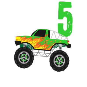 Kinder 5. Geburtstag Geschenk Monster Truck
