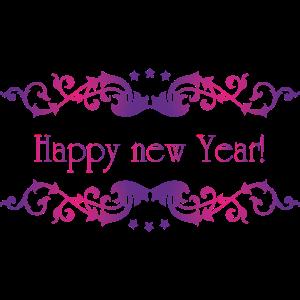 happy new year vintage pink