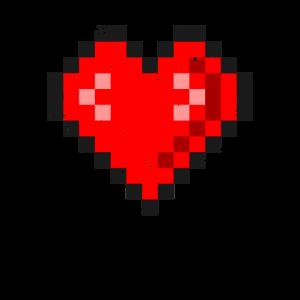 Pixel Heart Vintage / Pixel Liebesgeschenke