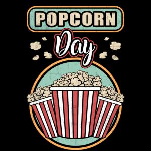 Popcorn Tag Kino Film Lecker Süß Mais Geschenkidee