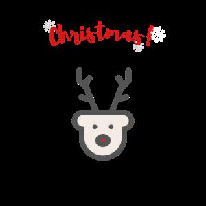 T-Shirt Hirsch Weihnachten Winter Schnee Geschenk