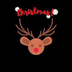 Winterhirsch-Weihnachtsgeschenk Schnee
