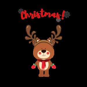 Rentier Weihnachtsmann Wintergeschenk Schneehirsch