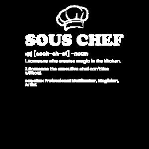 Sous Chef lustiger Koch