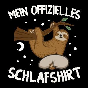 Offizielles Schlafshirt - Faultier Schlafanzug