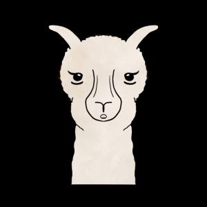 Überraschtes Alpaka