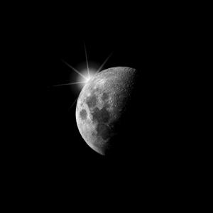 Mond, Mondphase, Space, Astronaut, Geschenk